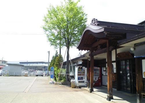 JR飯山駅と新幹線新駅(26.5.10)