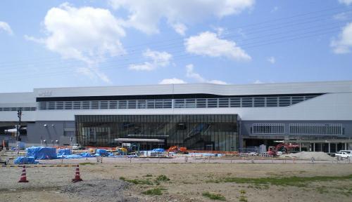工事中の新幹線飯山駅(26.5.10)