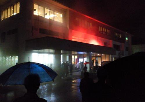 文化センター2階から出火(26.9.1)