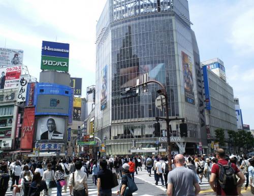 渋谷スクランブル交差点(26.5.28)