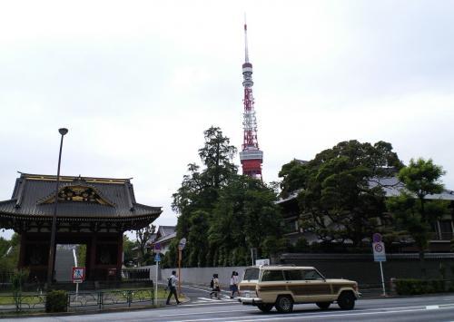 東京タワーと増上寺(26.5.27)