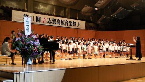 南・東小学校合同合唱(26.7.13)