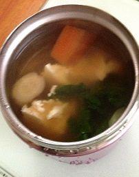 初日のスープはけんちん汁