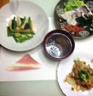 富士と晩御飯