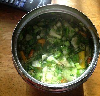 本日の野菜味噌汁