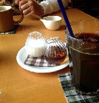 アイスコーヒーとホット