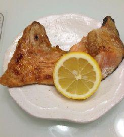 鮭のカマ焼き