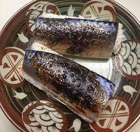 鯖寿司を焼いた