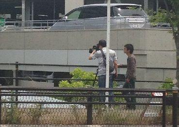 地元のTVのカメラマン