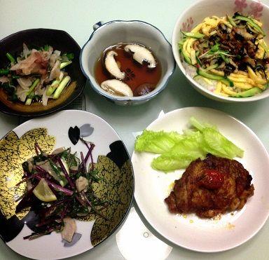 紫水菜とアナゴ丼