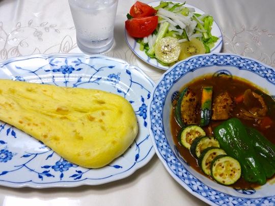 野菜カレーとナン