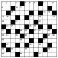 クロスワード解答用紙