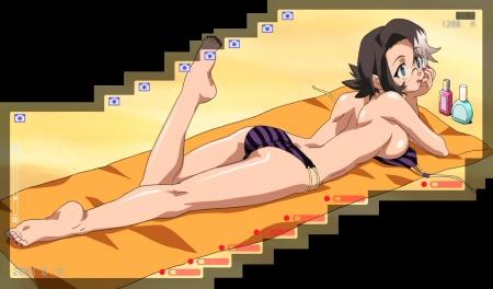 アーケードゲーマーふぶき特別編 桜ヶ咲ルリコの水着姿ビキニ胸裸75