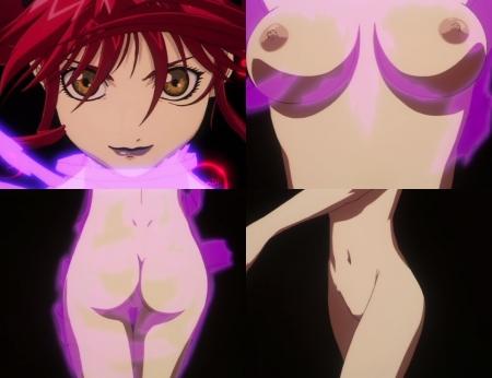 超神姫ダンガイザー3 アイリーンの全裸変身シーン乳首11