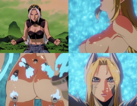 超神姫ダンガイザー3 シンディ・シャハーニの全裸変身シーン14