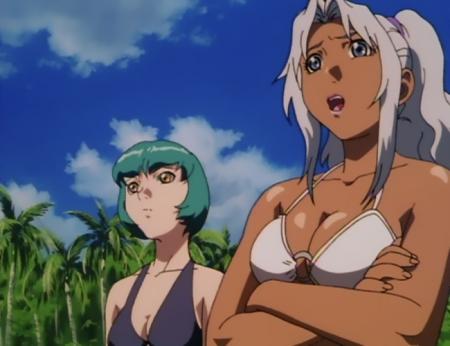 超神姫ダンガイザー3 鳳麗華とシンディ・シャハーニの水着姿ビキニ47