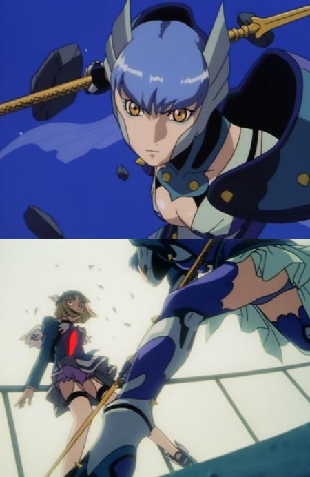 超神姫ダンガイザー3 鳳麗華とピクシスのパンチラ48