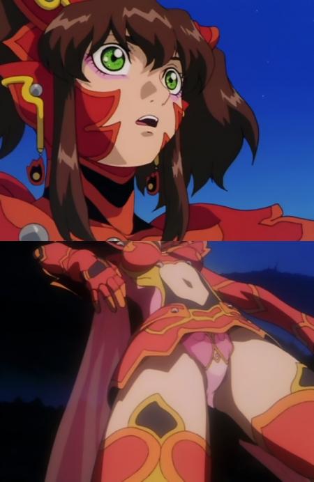 超神姫ダンガイザー3 美剣陽菜のパンチラ51