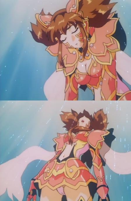 超神姫ダンガイザー3 美剣陽菜のパンチラ53