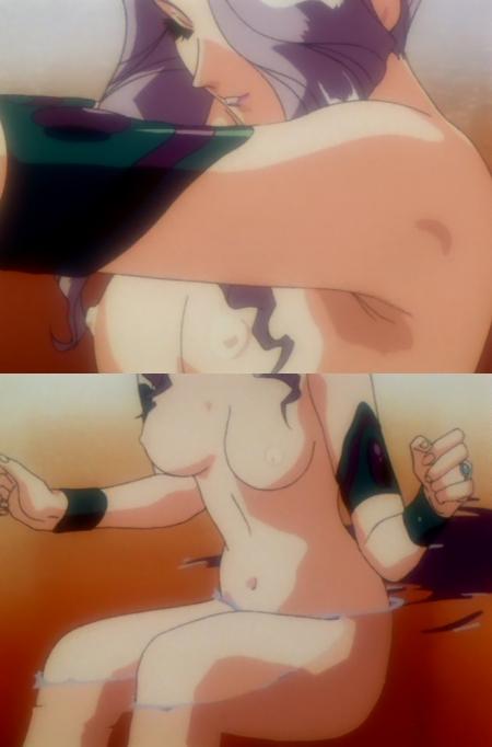 神秘の世界エルハザードOVA版 ミーズ・ミシュタルの全裸温泉入浴シーン乳首1