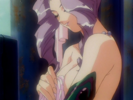 神秘の世界エルハザードOVA版 ミーズ・ミシュタルの胸裸温泉入浴シーン2