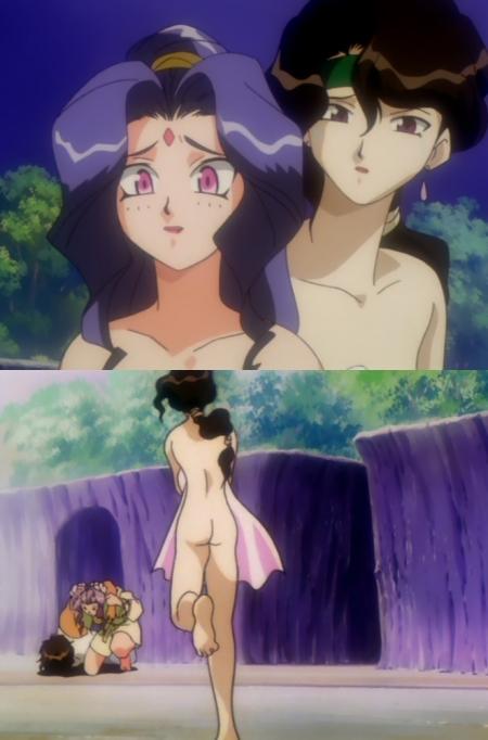 神秘の世界エルハザードOVA版 アフラ・マーンの全裸温泉入浴シーン33