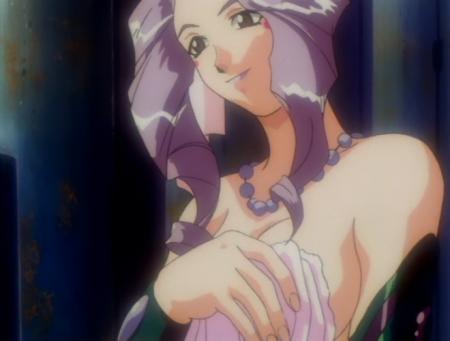 神秘の世界エルハザードOVA版 ミーズ・ミシュタルの胸裸温泉入浴シーン3