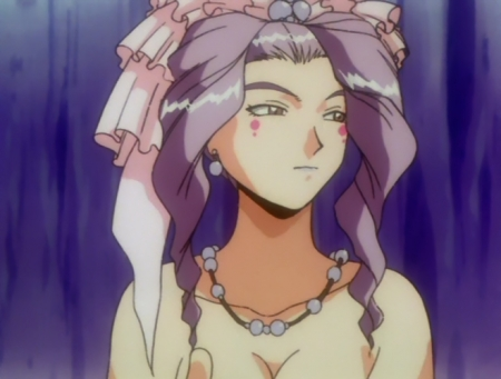 神秘の世界エルハザードOVA版 ミーズ・ミシュタルの胸裸温泉入浴シーン5