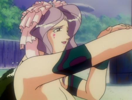神秘の世界エルハザードOVA版 ミーズ・ミシュタルの胸裸温泉入浴シーン6
