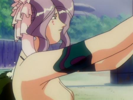 神秘の世界エルハザードOVA版 ミーズ・ミシュタルの胸裸温泉入浴シーン7