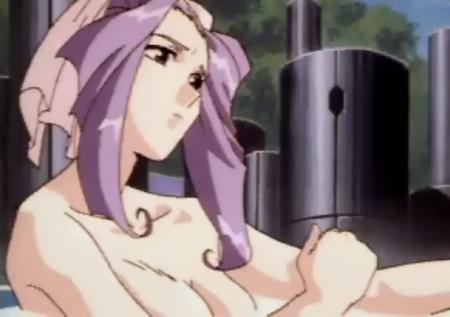 神秘の世界エルハザード セガサターン版 ミーズ・ミシュタルの胸裸温泉入浴シーン1