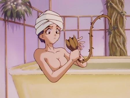 神秘の世界エルハザードTV版 モブ女性の胸裸入浴シーン10