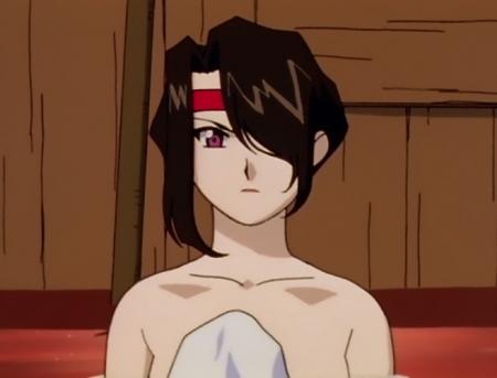 異次元の世界エルハザード アフラ・マーンの胸裸温泉入浴シーン13