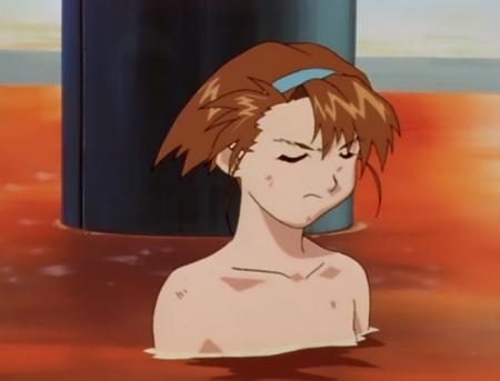 異次元の世界エルハザード 陣内菜々美の胸裸温泉入浴シーン9