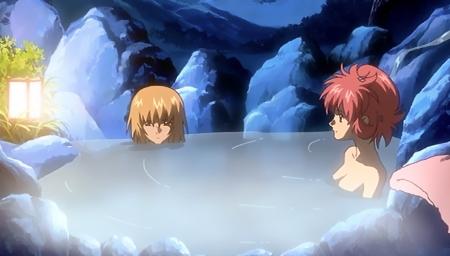 機動戦士ガンダムSEED DESTINY ラクス・クラインの胸裸温泉入浴シーン26