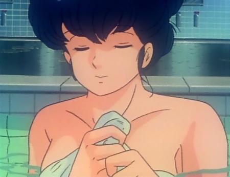 めぞん一刻TV版 音無響子の胸裸入浴シーン61