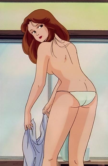 めぞん一刻TV版 彩子の着替えシーン胸裸パンツ62