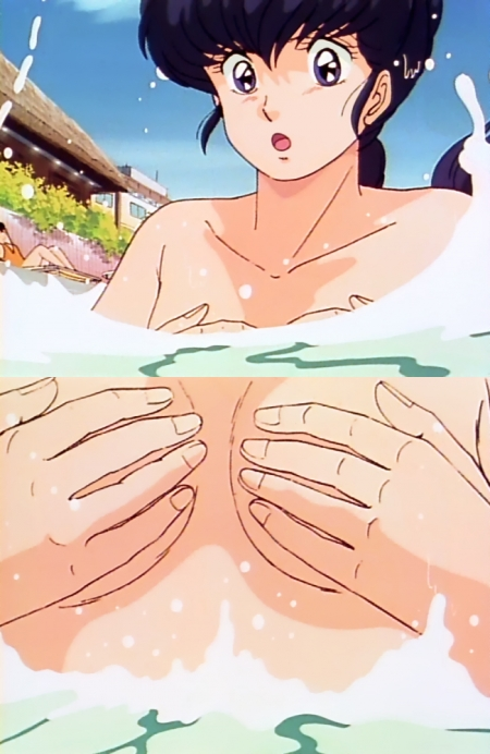 めぞん一刻TV版 音無響子の胸裸おっぱいポロリシーン107