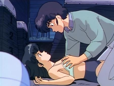 めぞん一刻TV版 八神いぶきが下着姿で胸を触られるシーン ブラブルマ76