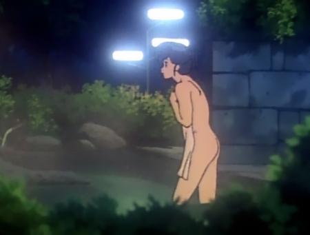 めぞん一刻TV版 音無響子の全裸温泉入浴シーン83