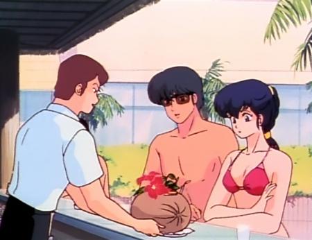 めぞん一刻TV版 音無響子の水着姿ビキニ98