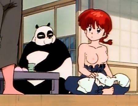 らんま1/2TV版 早乙女らんまの胸裸乳首22