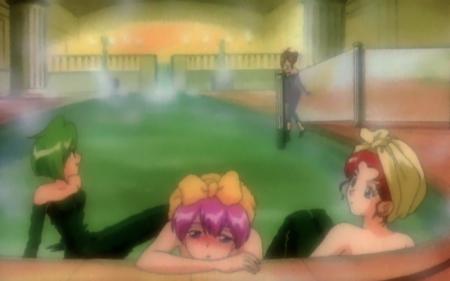 ウェディングピーチDX 花咲ももこと珠野ひなぎくとスカーレット小原の温泉入浴シーン15