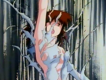 レイナ剣狼伝説 レイナ・ストールの胸裸パワーアップ変身シーン34