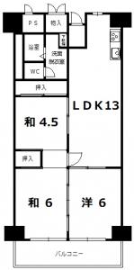 ローレルハイツ間取り_416号
