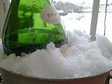 2014雪とシャンパン