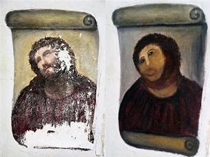009_キリスト画の修復