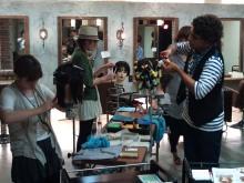 ビィーズ【bead's】美容室で働くスタイリストの営業日報-練習風景
