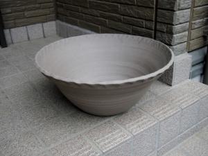 益子焼 睡蓮鉢
