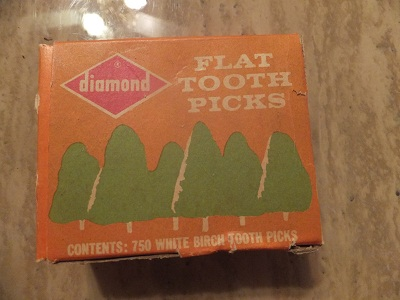 Flat tooth picks